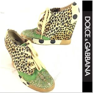 NWOT Dolce & Gabbana Wedge Sneakers